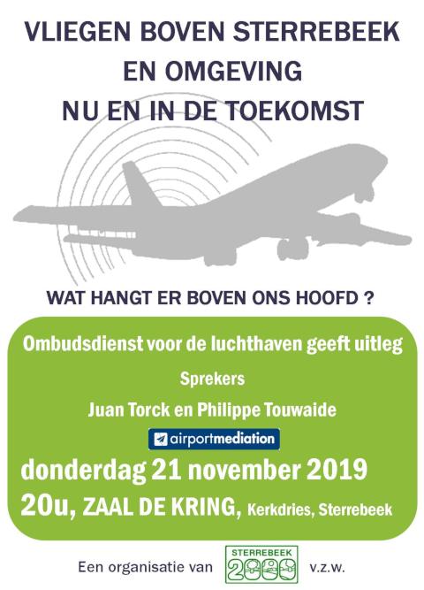 Vliegen boven Sterrebeek en omgeving: nu en in de toekomst