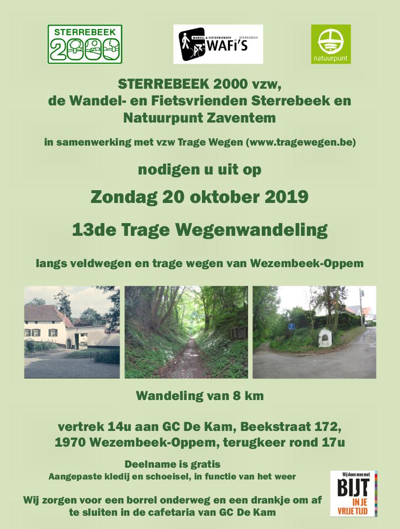 13de Trage Wegenwandeling  langs veldwegen en trage wegen van Wezembeek-Oppem